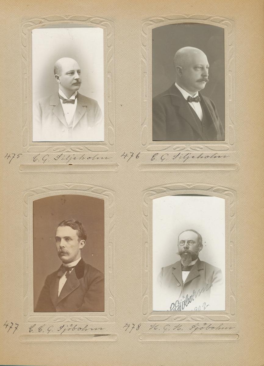 Porträtt av Christian Carsten Göthe Sjöblom, postmästare i Moholm 1887-1903 och Eslöv 1903-1918.