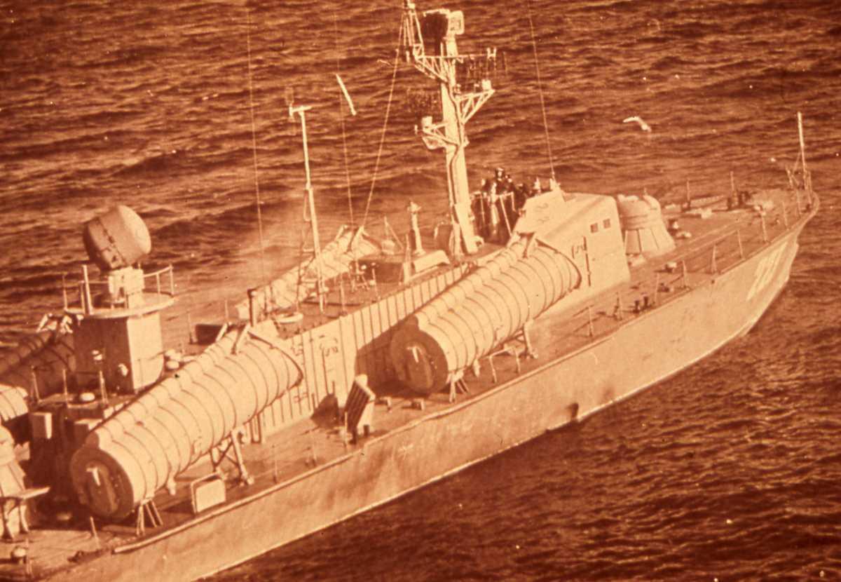 Russisk fartøy av Osa II - klassen med nr. 221.