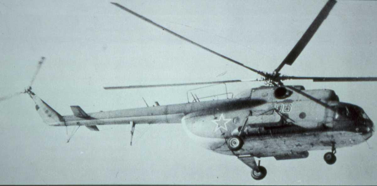 Russisk helikopter av typen Mil Mi-8VPK Hip D med nr. 06.