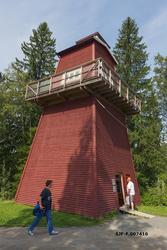 Kopi av skogbrannvakttårnet fra Haukenesfjellet i Rømskog i