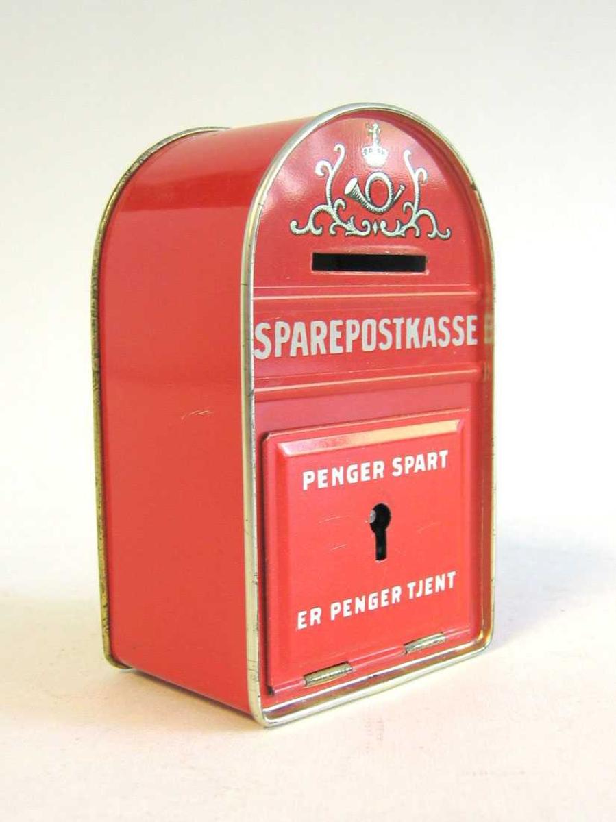 Sparebøsse i form av postkasse