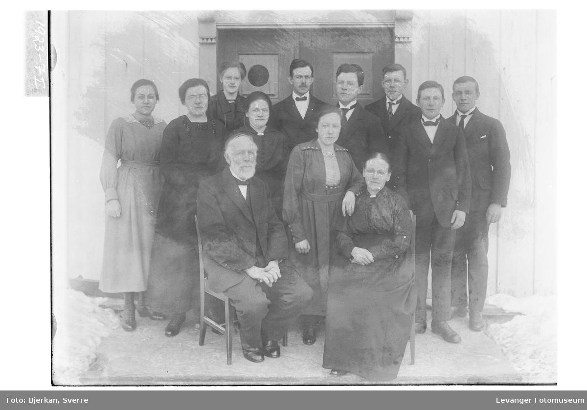 Ole Gilberg med familie