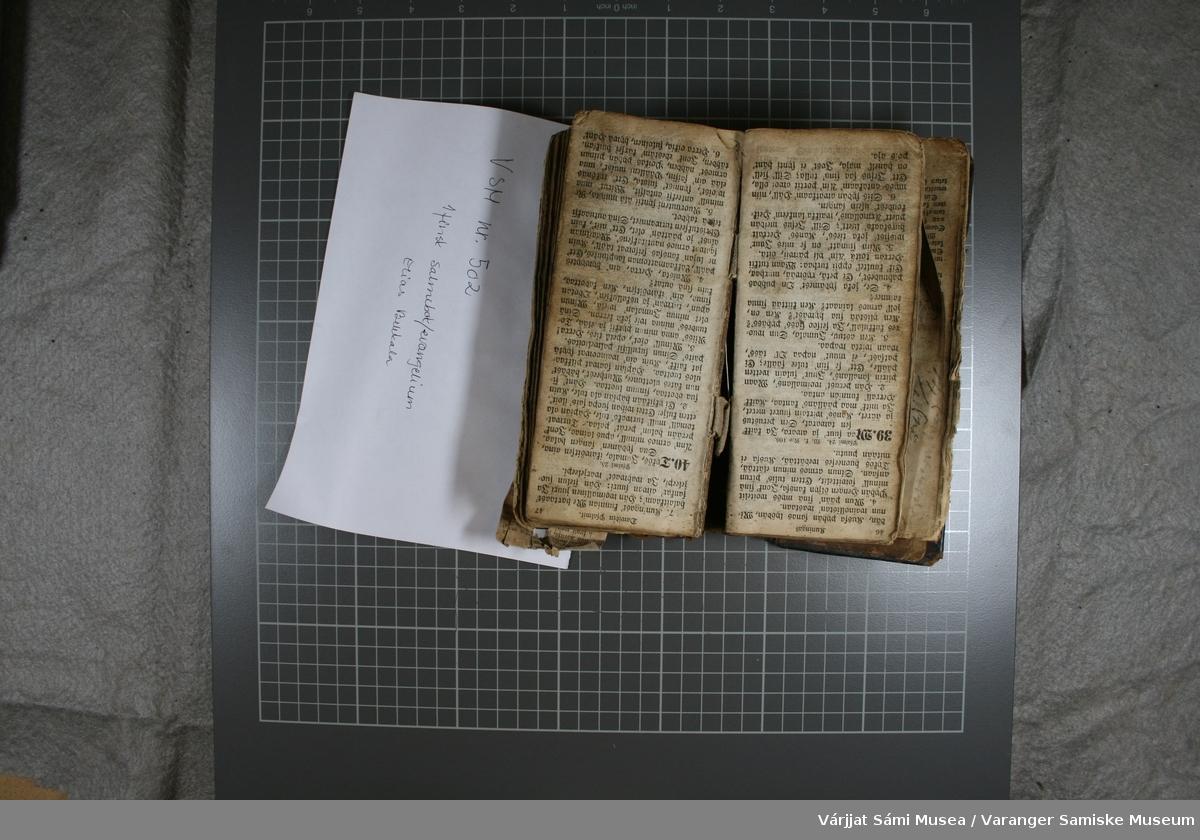 Salmebok på finsk utgitt i 1857.
