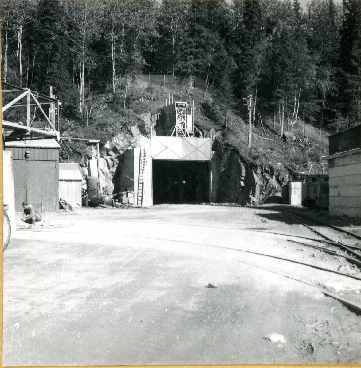 Tilløpstunnel frå Vesås. Tunnelinngang