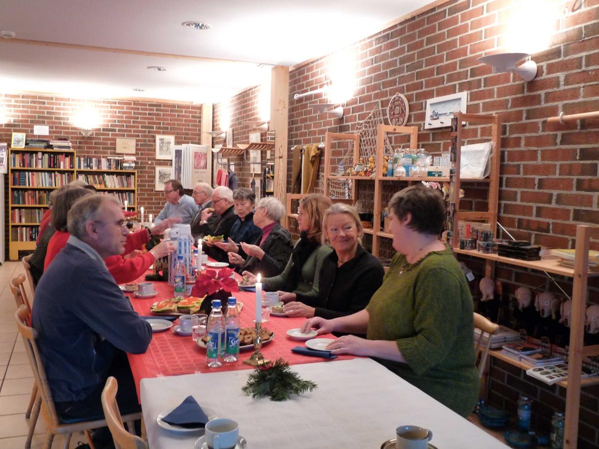 Juleavslutning på Berg-Kragerø Museum  med vennene, ansatte og kommunen. 15.12.2009
