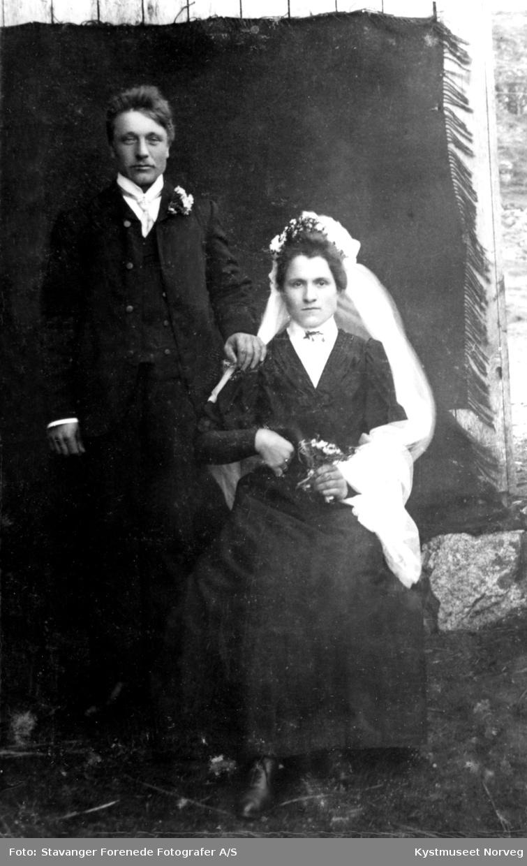 Erikka og Jens Hunnestad, brudebilde