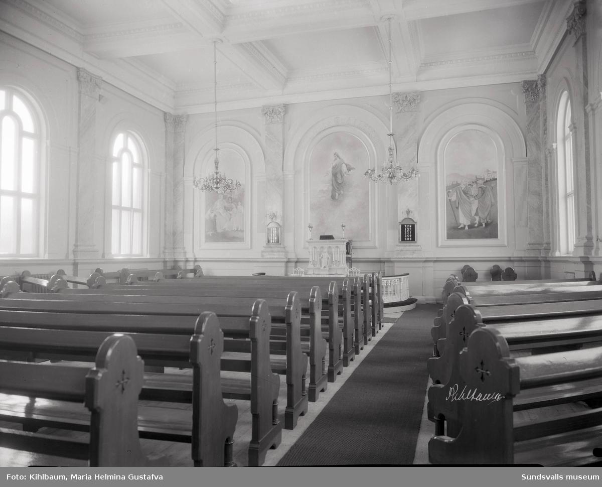 Kyrkointeriör. Metodistkyrkan.