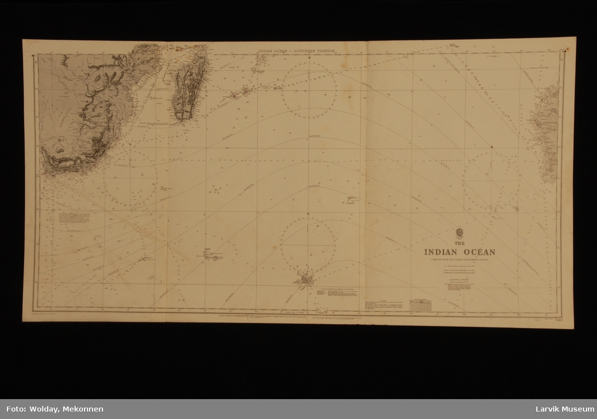 Indian Ocean-Southern portion Det Indiske hav