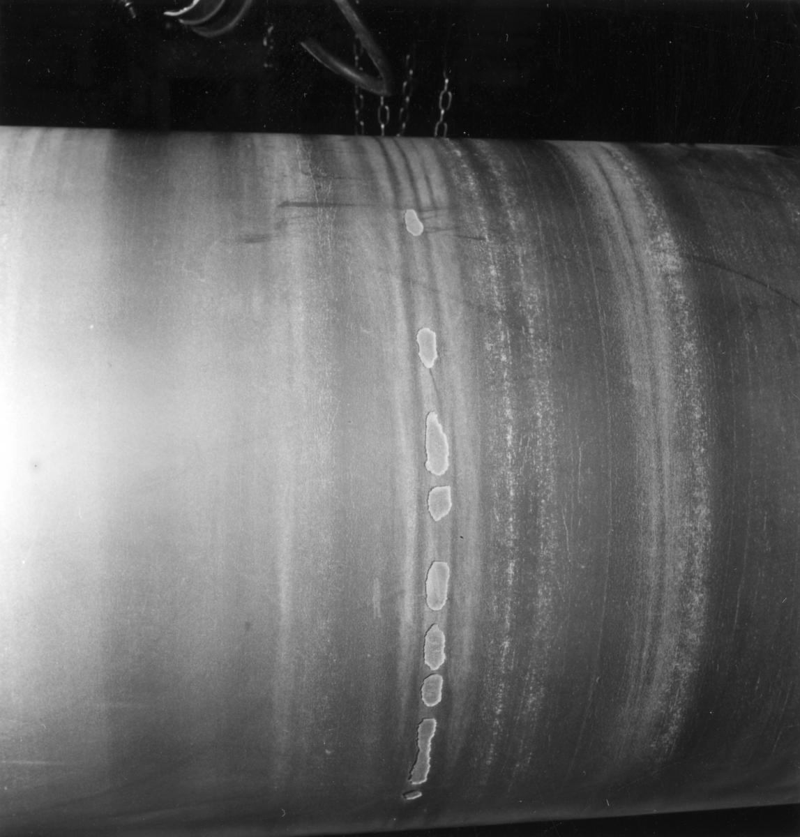 PM 2, skada på cylinderpress på Papyrus, den 3/1-1961.