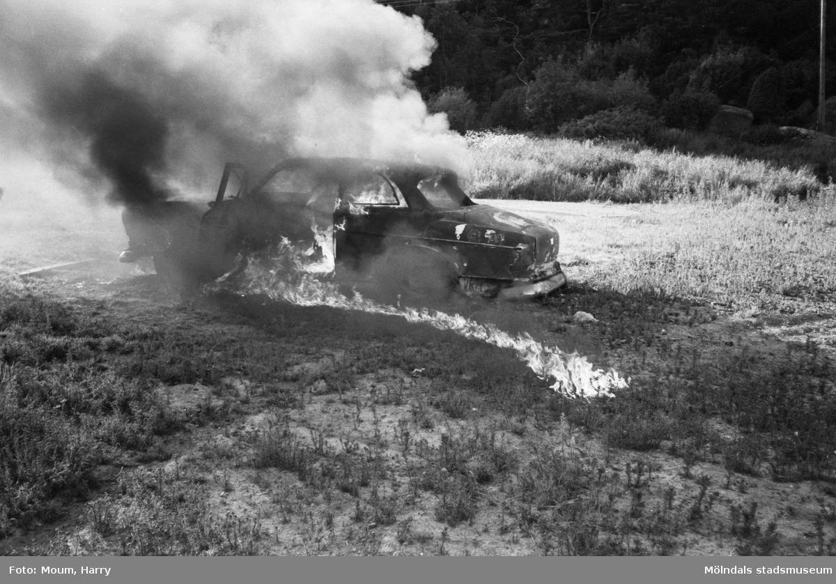 Brand- och räddningsövning i Lindome, år 1983.  För mer information om bilden se under tilläggsinformation.