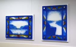 Kunstverk i korridor på Valhall PH.