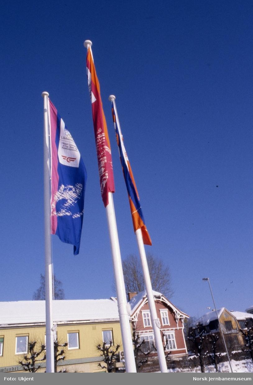 Hamar stasjon - Bannere med OL-merking