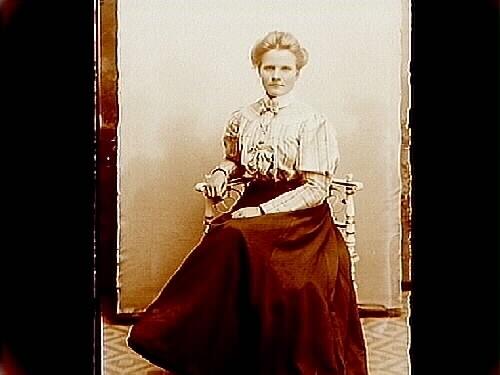 En kvinna.Hedvig Mattiasson