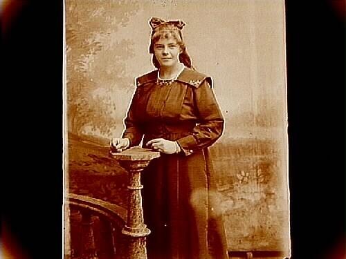 En kvinna.Berta Svensson