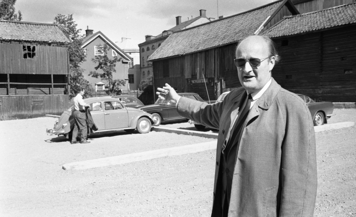 Elljus Vallen, Har inget hem, 25 augusti 1967Olle Sjöström. Ågatan 6, i fonden mitten syns gaveln på Elgerigården, Ågatan 2.