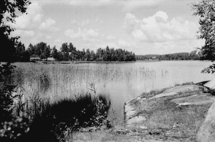 Rosendalsbadet, Olshammar, Aspabruk.Bilden tagen för vykort.Förlag: Aspa Konsumtionsför.