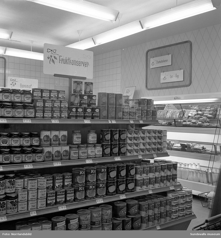 Nyöppnad konsumbutik på Tivolivägen 20.