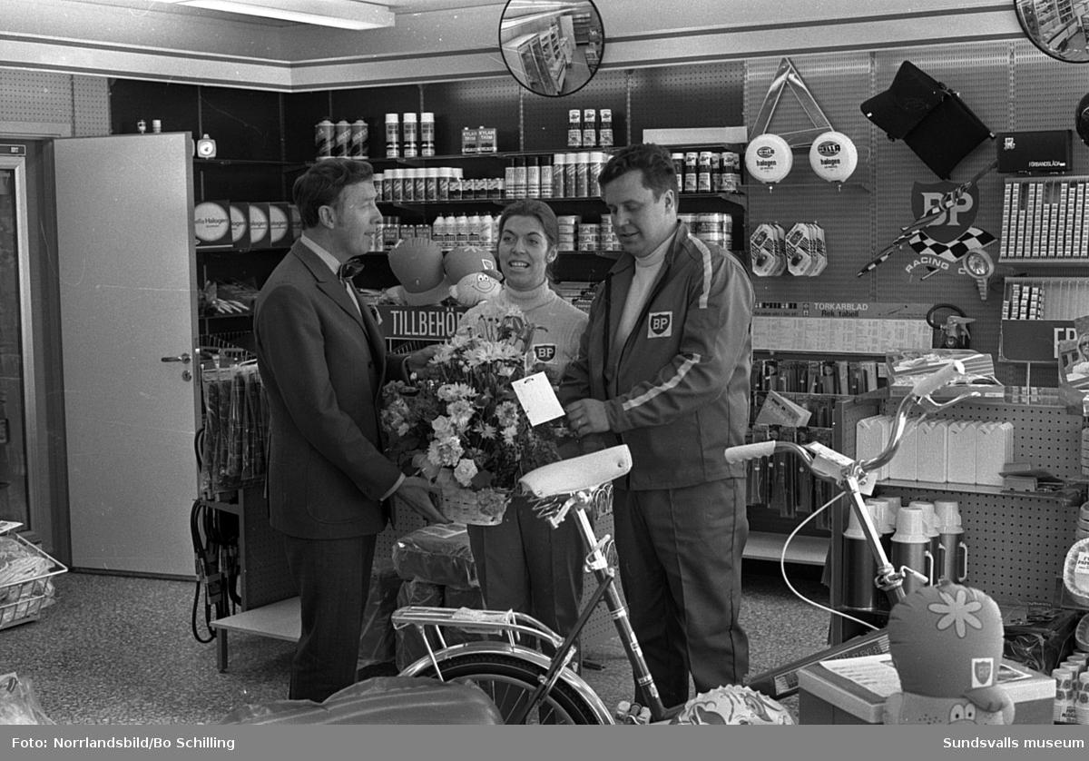 BP i Granlo, personal i butik och verkstad.