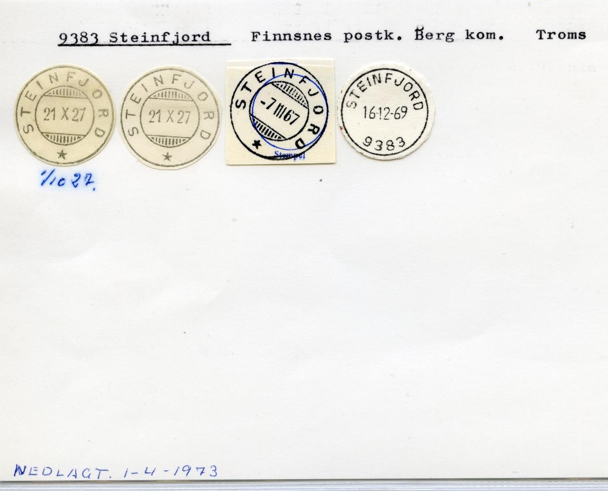 Stempelkatalog  9383 Steinfjord, Berg kommune, Troms