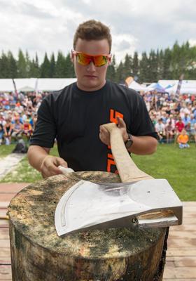 Stihl timbersport under De nordiske jakt- og fiskedager 2014.. Foto/Photo