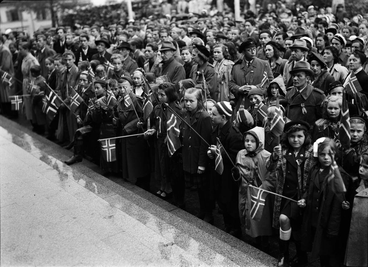 Firandet av Norges nationaldag, Universitetstrappan, Uppsala 1937