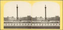 Stereobild med motiv av torg med monument?