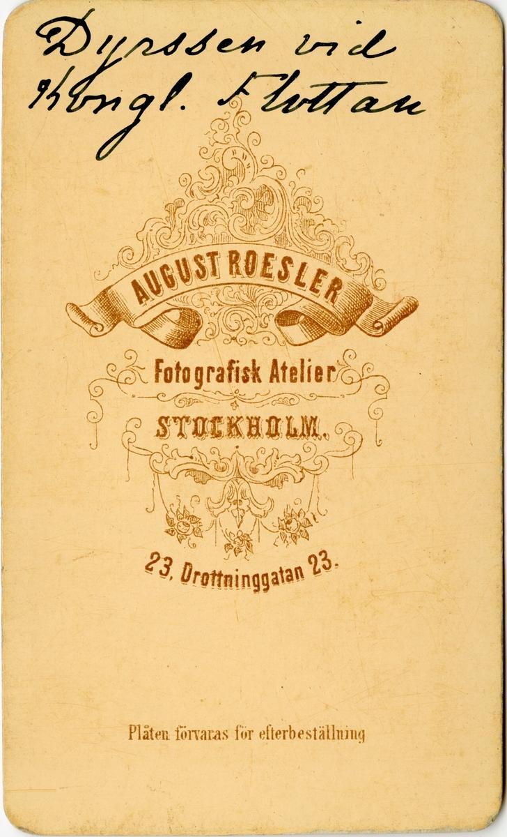 Porträtt av Gustaf Dyrssen, löjtnant vid Flottan.