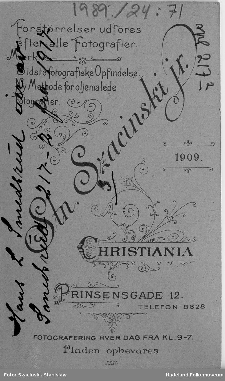 Portrett av Hans L. Smedsrud, f. 04.04.1880