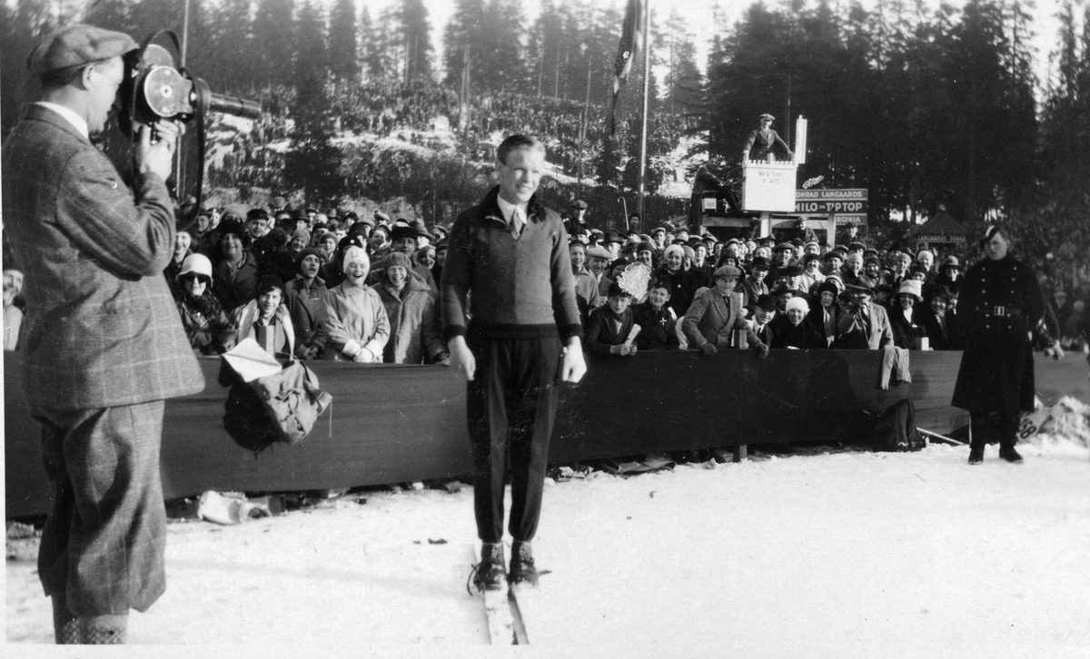 Sigmund Ruud at the Holmenkollen ski jump
