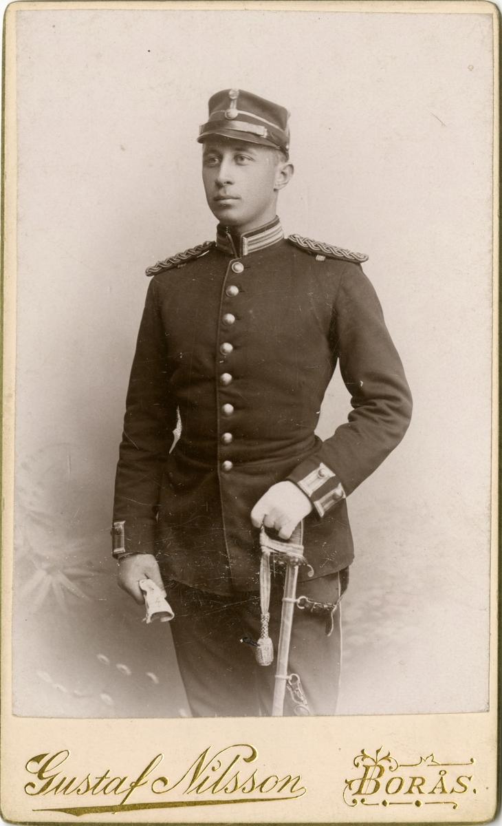 Porträtt av Gustaf Gottschalk Erasmie, underlöjtnant vid Älvsborgs regemente I 15.