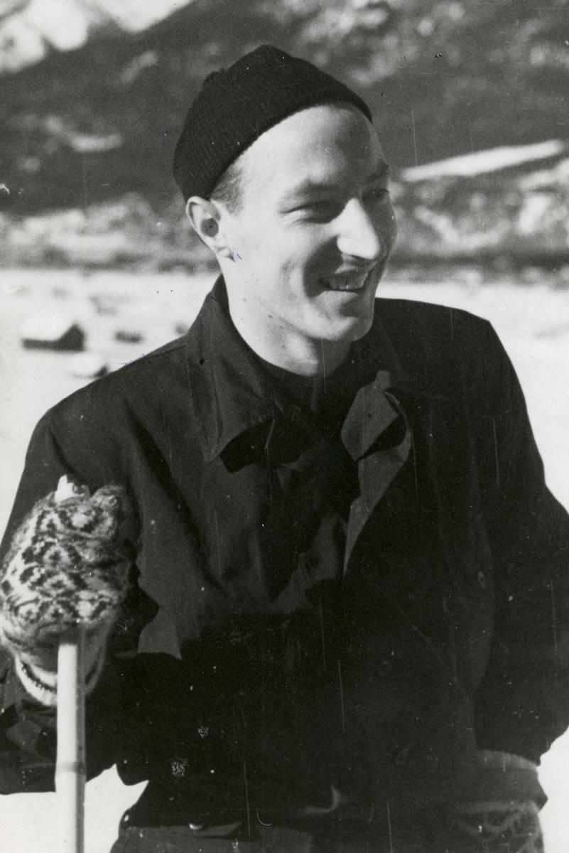 Norwegian athlete Reidar Andersen in Garmisch