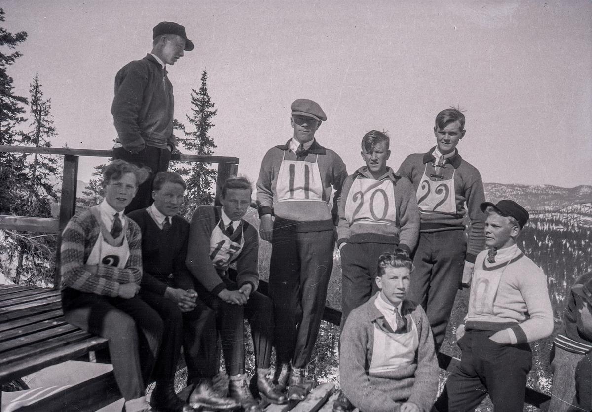 Young Kongsberg skiers at Hannibalbakken