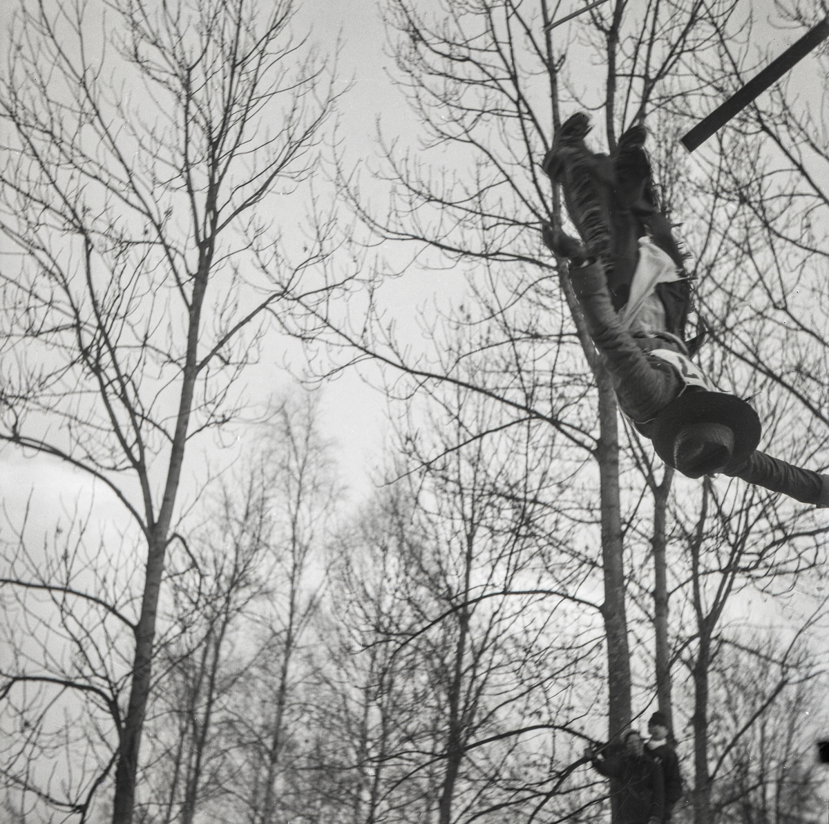 Kongsberg skier doing a salto