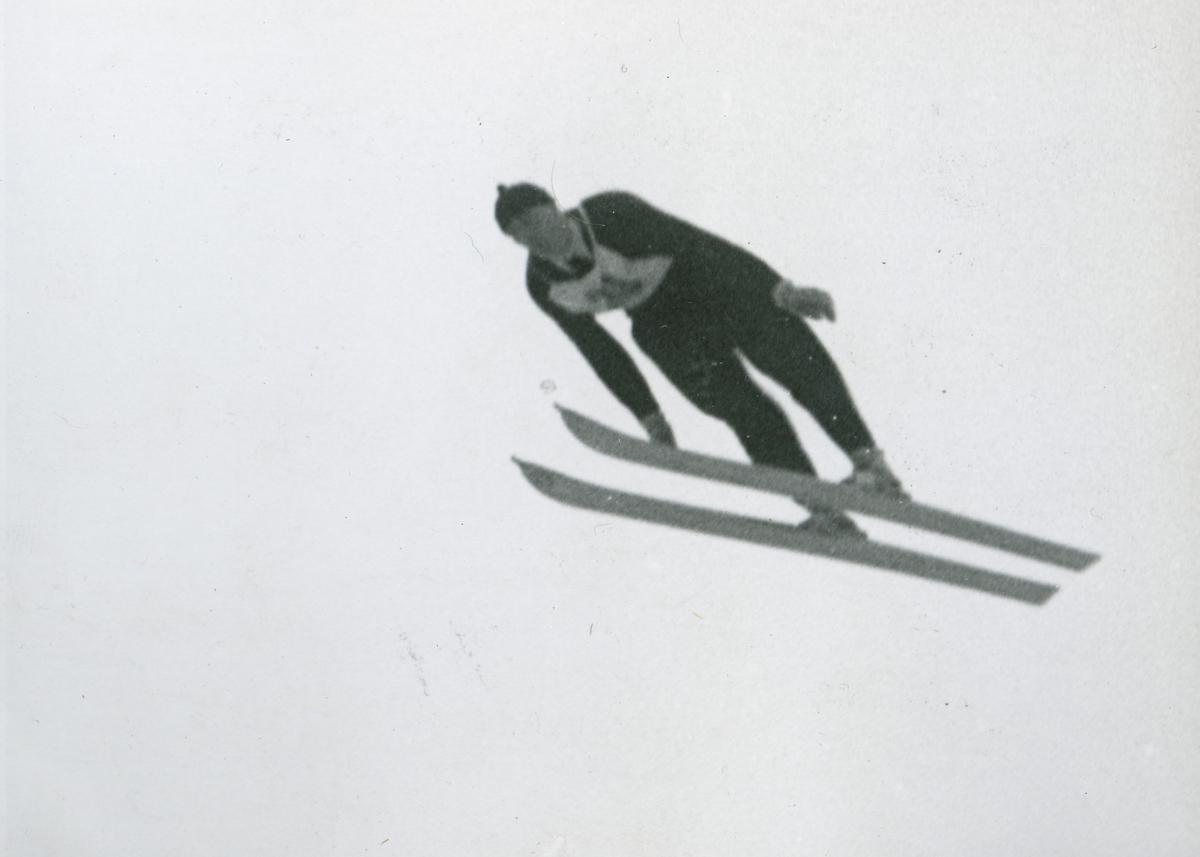 Kongsberg athlete Birger Ruud in action at Garmisch