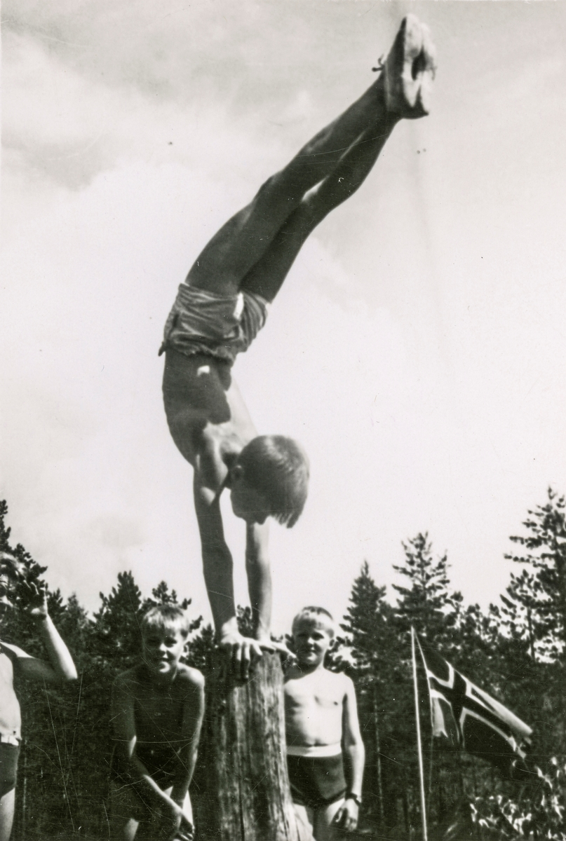 Young athlete during summer camp at Kongsberg