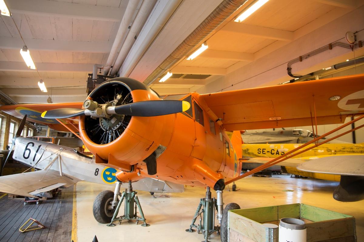 Fpl-nr: 78001 (F2) Transportflygplan Tp 78.  Norseman. SE-CPS.  Flygmotor: Pratt & Whitney R-1340-ANI, 600 hk. Tp 78001 var aktivt i Sverige från 1946 fram till att luftvärdighetsbeviset utgick 30 Juni 1979 Flygplanet överfördes till Flygvapenmuseum den 11 augusti 1980.
