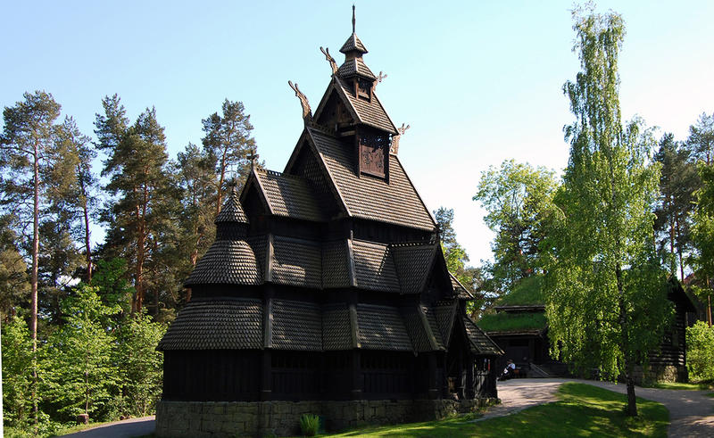 Stave Church at Norsk Folkemuseum. Foto/Photo