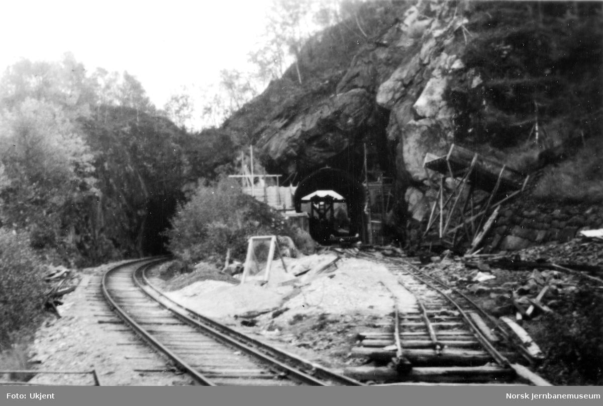 Kvernskar tunnel - gammel og ny tunnel, sett mot Ualand