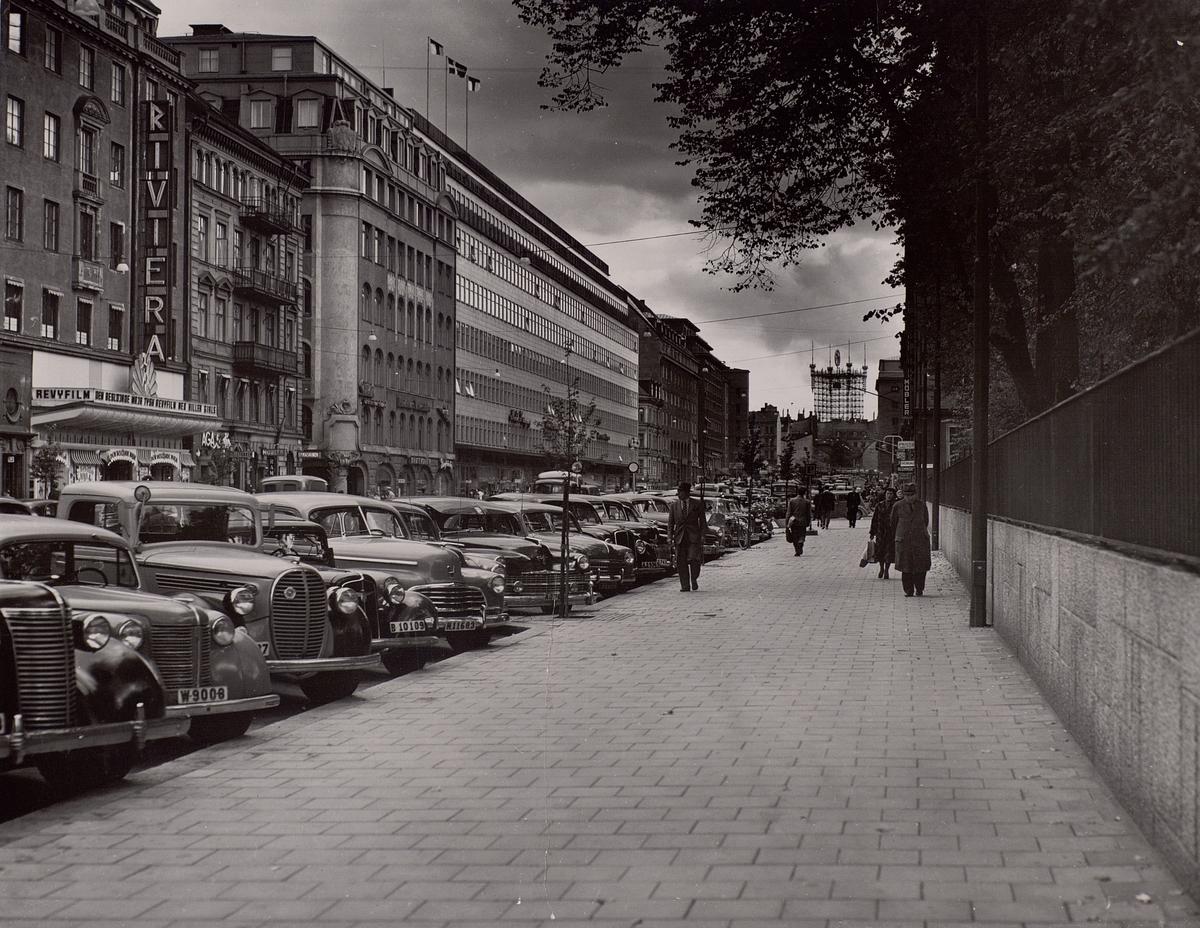 Telefontornet, Stockholm sett från Sveavägen. September 1952.