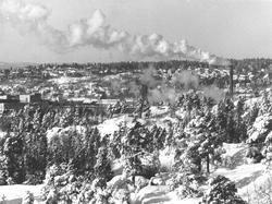 Oversiktsbilde fra Moss ca. 1965, fotografert fra Verksåsen,