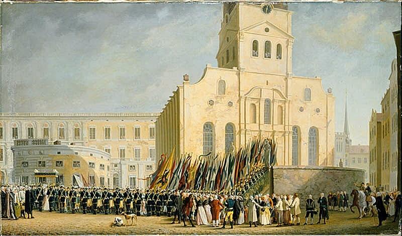 Festtåg i Stockholm efter segern vid Svensksund 1790