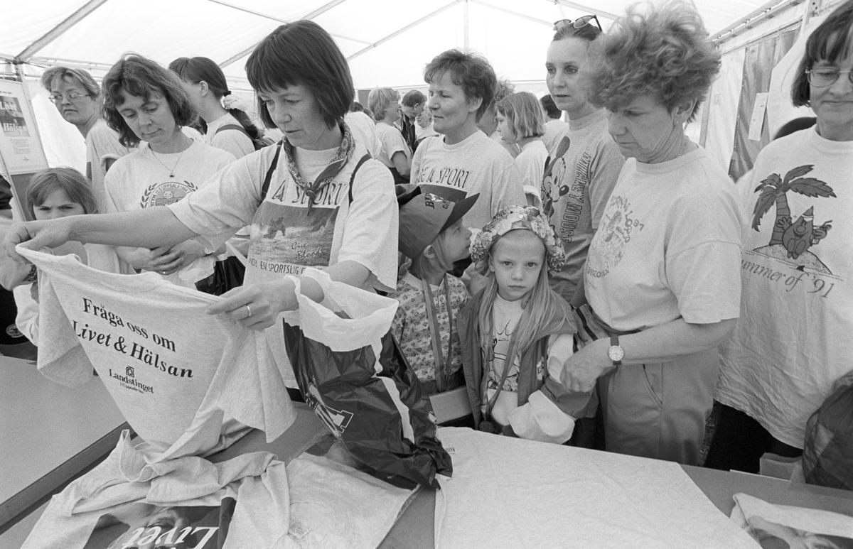 Deltagare i Maja Gräddnosloppet, Kronåsen, Uppsala 1995