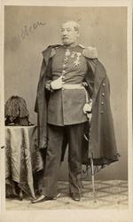 Porträtt av Johan af Kleen, generalmajor vid Ingenjörkåren.