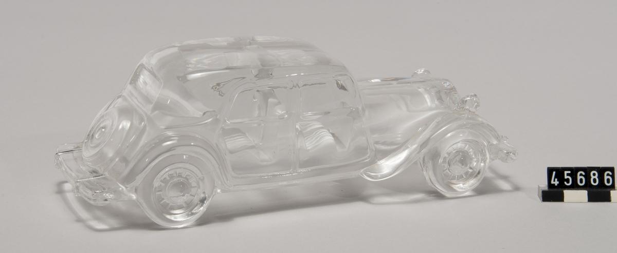 Modellbil, Citroën T15 i kristallglas, skala 1:24, tillverkare Hofbauer, Tyskland