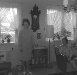 Turid Karikoski og Jenny Drannem fotografert i stua hjemme i