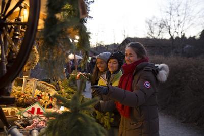Markedsbod på julemarkedet