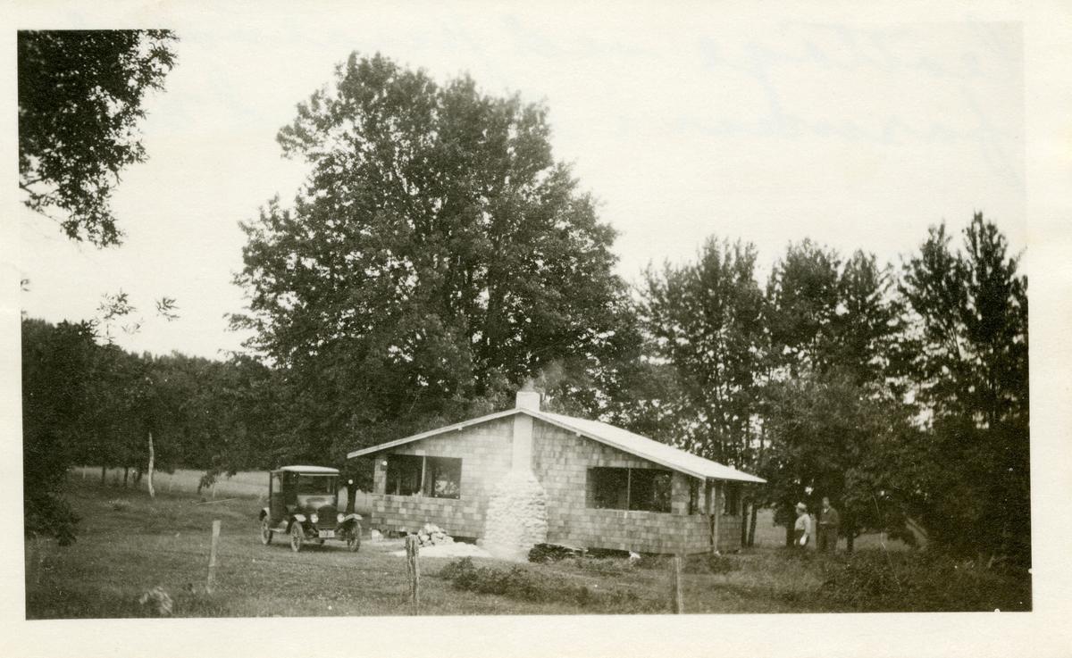 Hytte ved Knatvoldfarmen i Hayward i Minnesota.