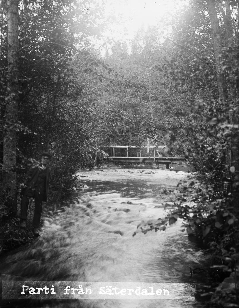 """""""Forsen nere i Säterdalen"""", Dalarna 1919"""