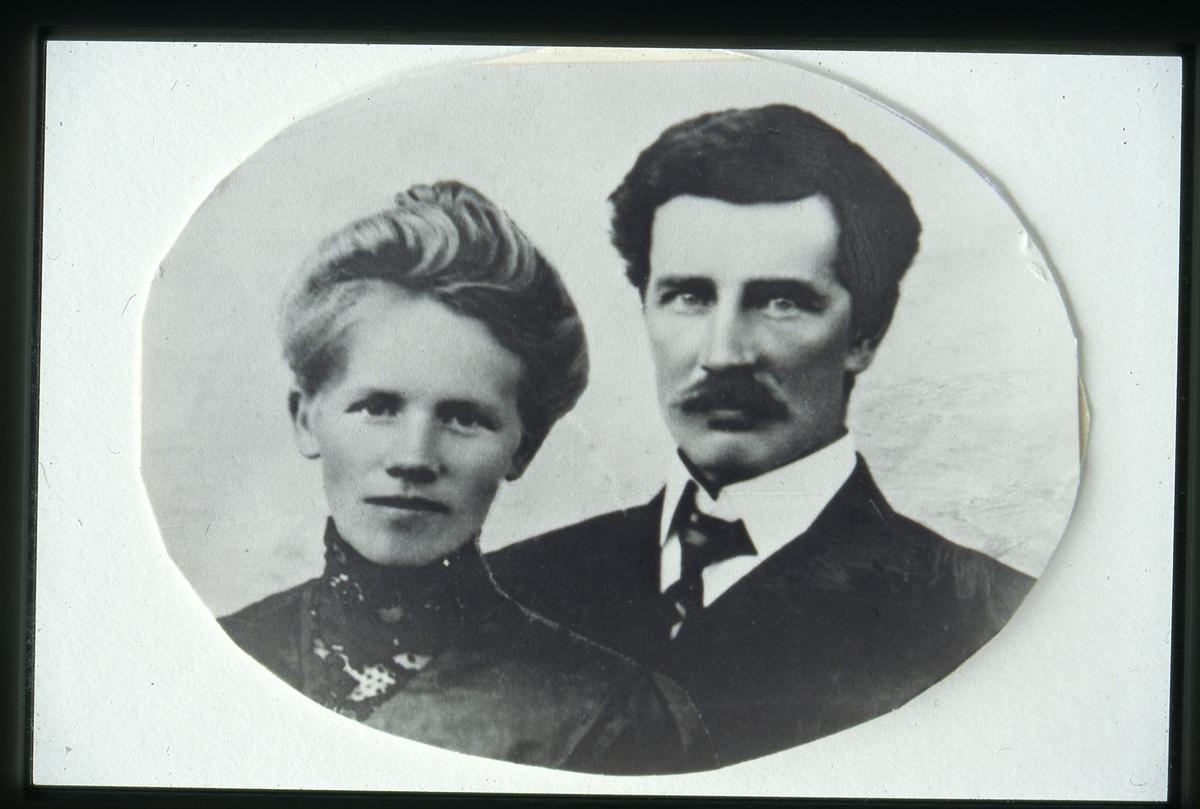 Portrett av Knut og Theodora Kirkeberg.