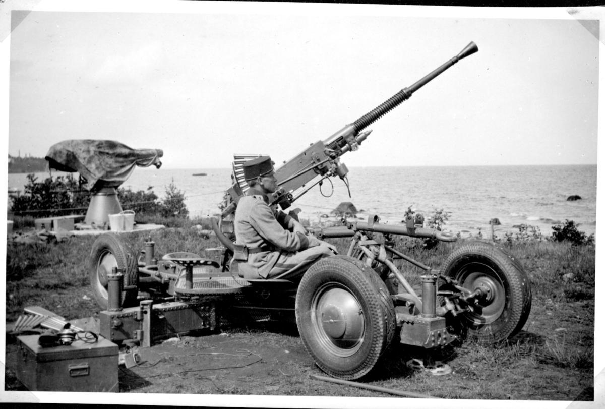 Luftvärnsautomatkanon m/1940, 20 mm, A 9. Karlsborg.